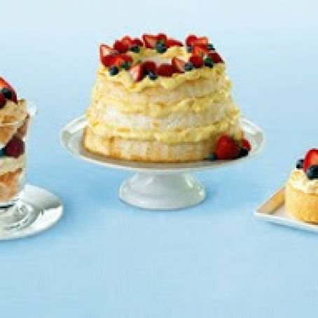 Dessert, Angel Cake: Healthier Pudding/Berry Trifle