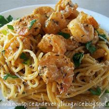 Fiery Hot Shrimp Alfredo