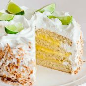 Coconut Lime Cake with Meringue Frosting