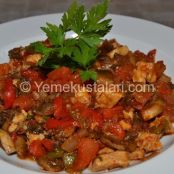 Mushroom saute with chicken