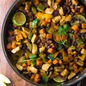 Chili-Lime Chicken and Sweet Potato Skillet
