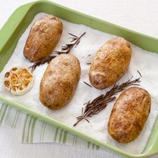 ATK Salt-Baked Potatoes with Roasted Garlic and Rosemary Butter