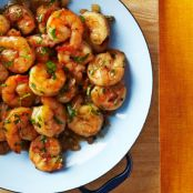 Lemon Cilantro Shrimp for Two