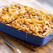 Baked Pasta with Mushrooms & Mozzarella