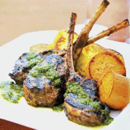 Char-Grilled Rack of Lamb with Cinnamon and Cumin