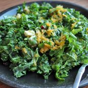 Kale and Raw Butternut Squash Salad