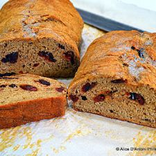 Brown Sugar Cranberry Whole Wheat Peasant Bread