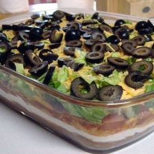 7-Layer Mexican Bean Dip