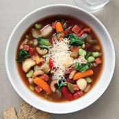 Minestrone with Endive and Pepperoni