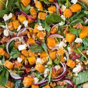 Butternut Squash and Bacon Salad with Maple-Rosemary Vinaigrette