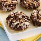 Chocolate Coconut Thumbprint Cookies