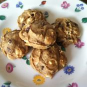 Pumpkin Date White Chocolate Pudding Chip Cookies