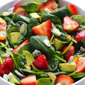 Strawberry Avocado Spinach Salad with Poppy Seed Dressing