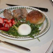 Pork Tenderloin, Arugula, Asparagus & Poached Egg Salad