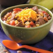Green chili beef stew