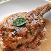 Veal Chops Saltimboca with Tomato Cream