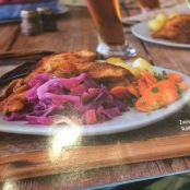 Schnitzel with Red Cabbage & Apples