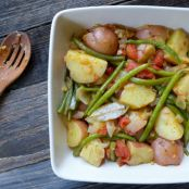 Greek-Style Potatoes & Green Beans (Fasolakia)