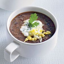 Black Bean Soup With Cilantro Crema