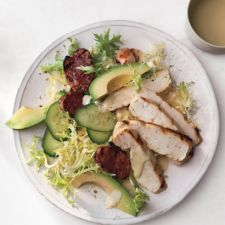 Grilled Mustard Chicken with Salami and Avocado