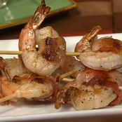 Bacon-Wrapped Grilled Shrimp with Dijon Butter Sauce, Carla and Clinton's