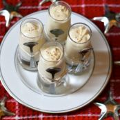 Eggnog pudding shots
