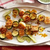 Spiced Scallop-Zucchini Kebabs