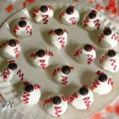 Bloodshot Eyeballs Halloween Treats