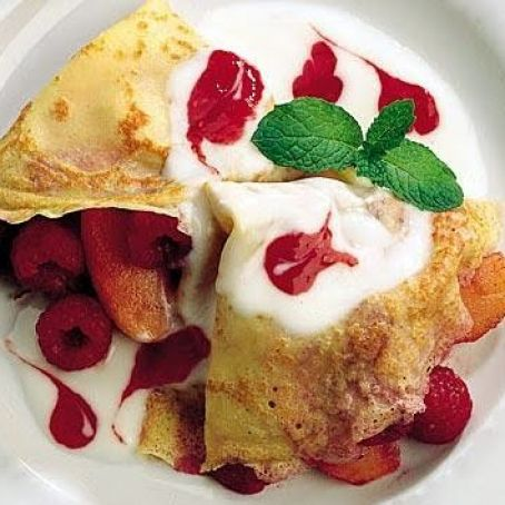 Raspberry and Apple Crepes