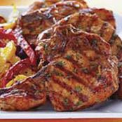 Cilantro-BBQ Grilled Pork Chops