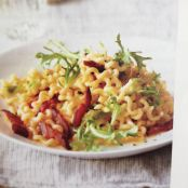 Fusilli Carbonara with Frisee and Lemon