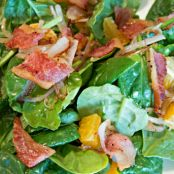 Jowl Bacon Spinach Salad