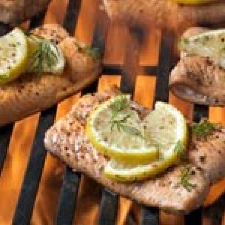 Dilled Grilled Salmon Filet