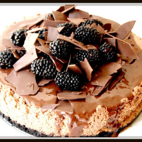 'Blackberry Bramble' Chocolate Cheesecake
