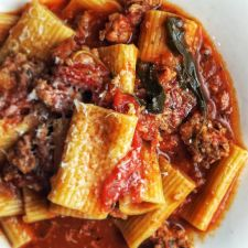 Rigatoni with Meat Sauce - Instant Pot
