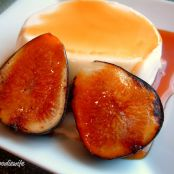 Panna Cotta with Grand Marnier Caramel Sauce & Bruleed Figs