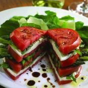 Tomatoes and Mozzarella Cheese Stacks