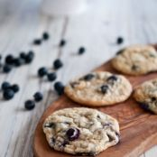 Chewy Lemon Blueberry Cookies