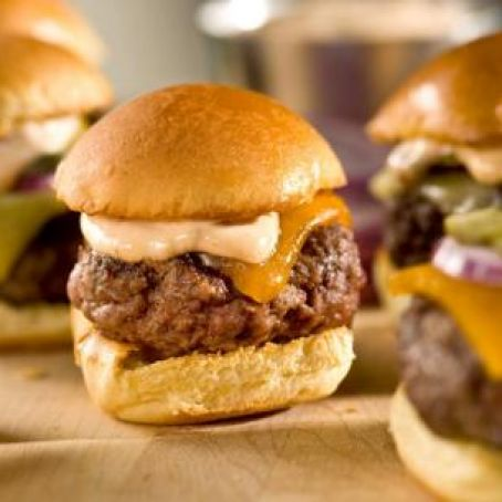 Sliders with Chipotle Mayonnaise