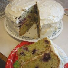 Blueberry Zucchini Cake w/ Lemon Buttercream