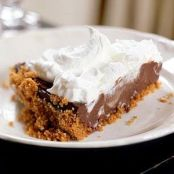 CHOCOLATE CREAM PIE IN A GRAHAM CRACKER CRUST