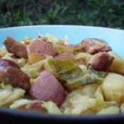 Easy Cabbage Potato and Smoked Sausage Skillet.