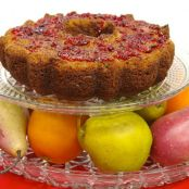 Fresh Cranberry Cake With Orange-Cranberry Topping