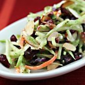 Broccoli Slaw Salad with Cranberries, Almonds and Yogurt Dressing