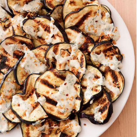 Grilled Eggplant with Yoghurt Sauce