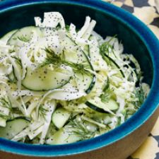Cabbage, Cucumber & Fennel Salad with Dill