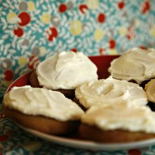 Banana Spice Cookies with Lemon Butter Icing