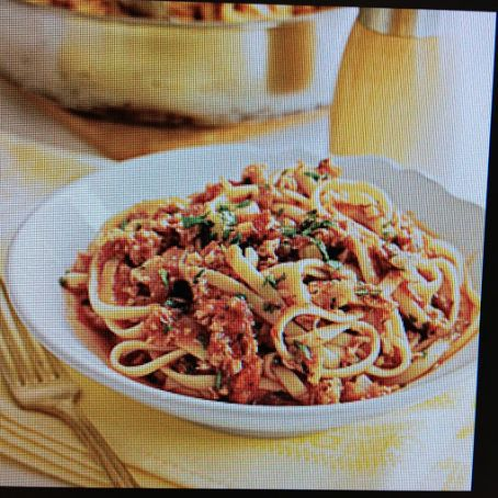 Seafood: Spaghetti with Red Clam Sauce