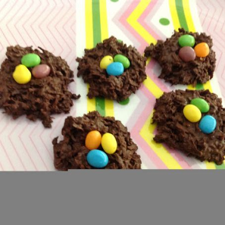 Easter nests w/coconut
