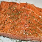 Salmon Baked in Foil  (with Lime Butter Sauce)